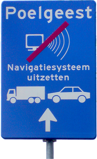 A sign asking people to switch off their SatNav